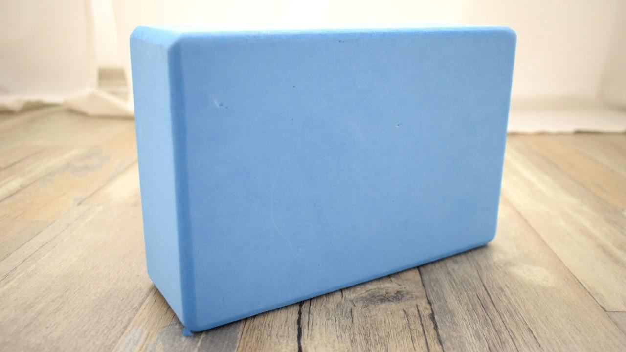 jógový blok modrý